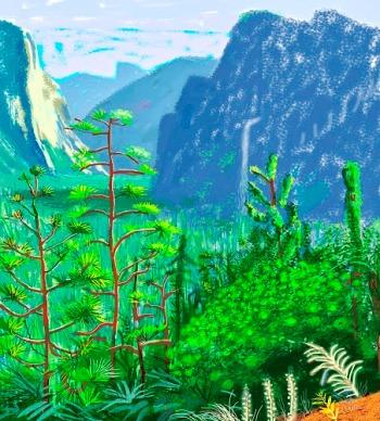 """Yosemite I, October 16th 2011"" iPad Drawing"