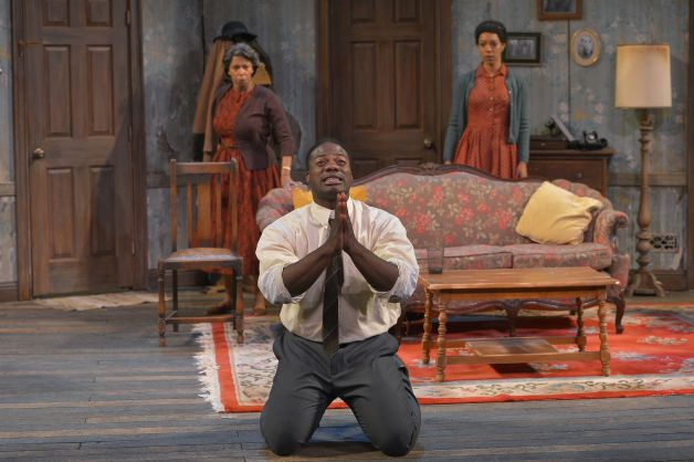 "From left, Margo Hall, Marcus Henderson and Nemuna Ceesay in ""A Raisin in the Sun"""