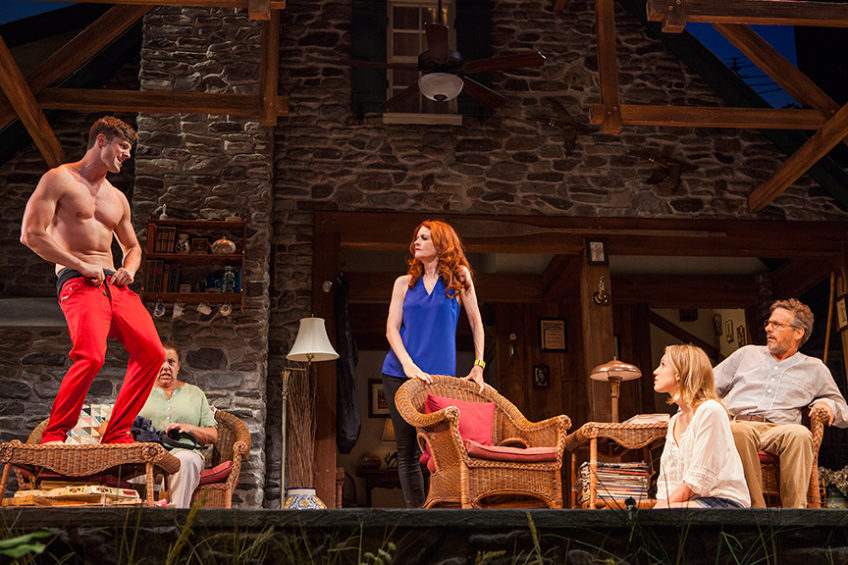 "From left, Tyler Lansing Weaks, Marcia DeBonis, Candy Buckley, Allison Layman and Martin Moran in ""Vanya and Sonia and Masha and Spike"""