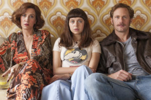 THE DIARY OF A TEENAGE GIRL - 2015 FILM STILL - Pictured: Kristen Wiig as Charlotte Goetze, Bel Powley as Minnie Goetze and Alexander Skarsgard as Monroe - Photo Credit: Sony Pictures Classics