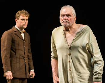 Dylan Saunders (left) and Brian Dennehy in