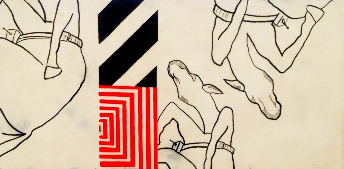 Heidi Brandow, Object: Animal+Mechanism, mixed media on panel, 24 x 48 in., 2013
