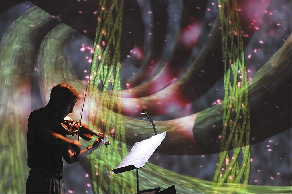 Violinist James Stern performs with VERGE ensemble.