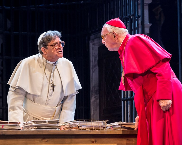 """Richard O'Callaghan (left) and Kevin Colson in """"The Last Confession"""""""