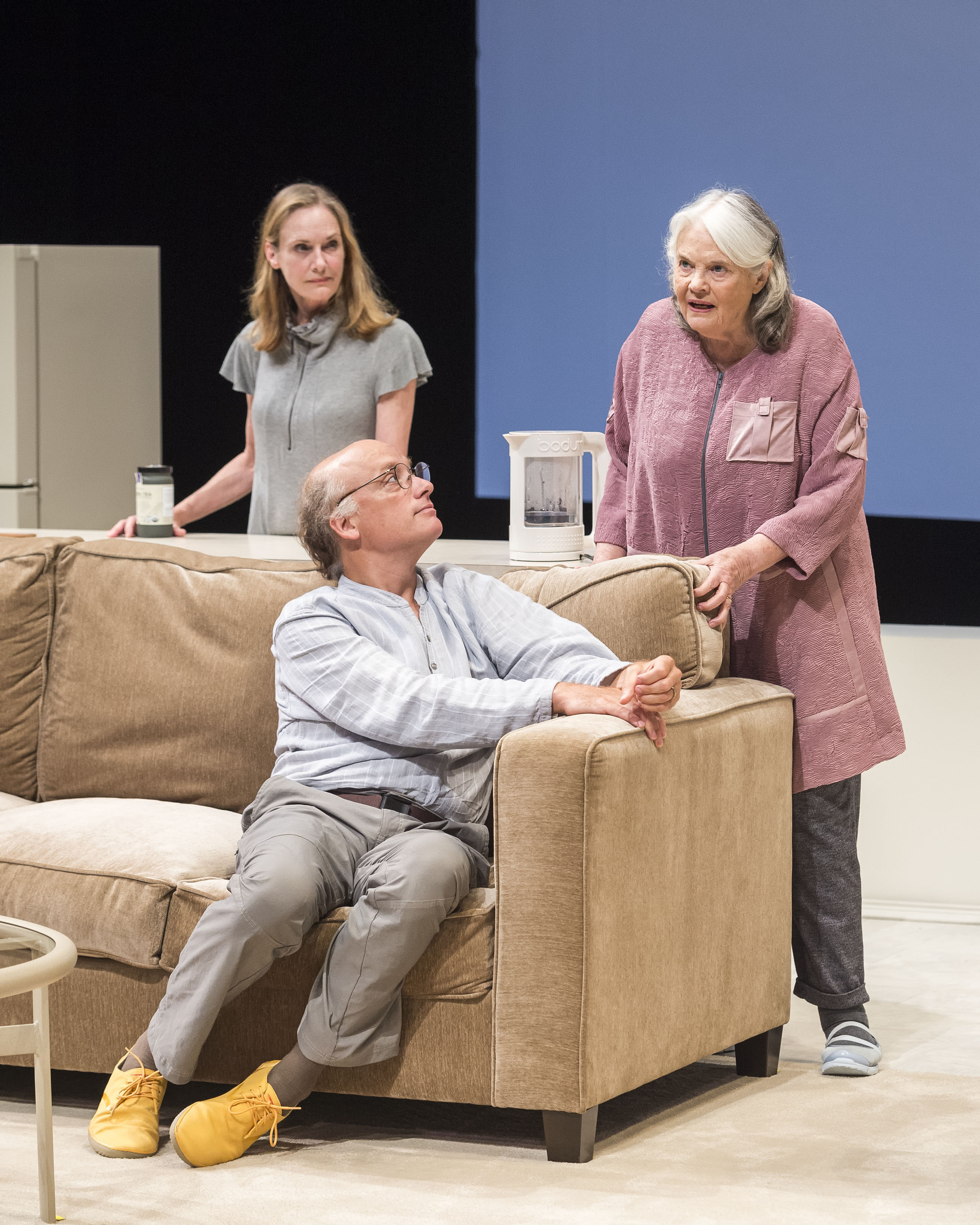 """From left: Lisa Emery, Frank Wood and Lois Smith in  """"Marjorie Prime"""""""