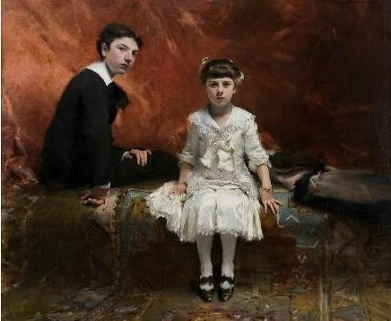 Sargent's portrait of Édouard and Marie-Louise Pailleron, 1881. (© Des Moines Art Center, Des Moines, Iowa)