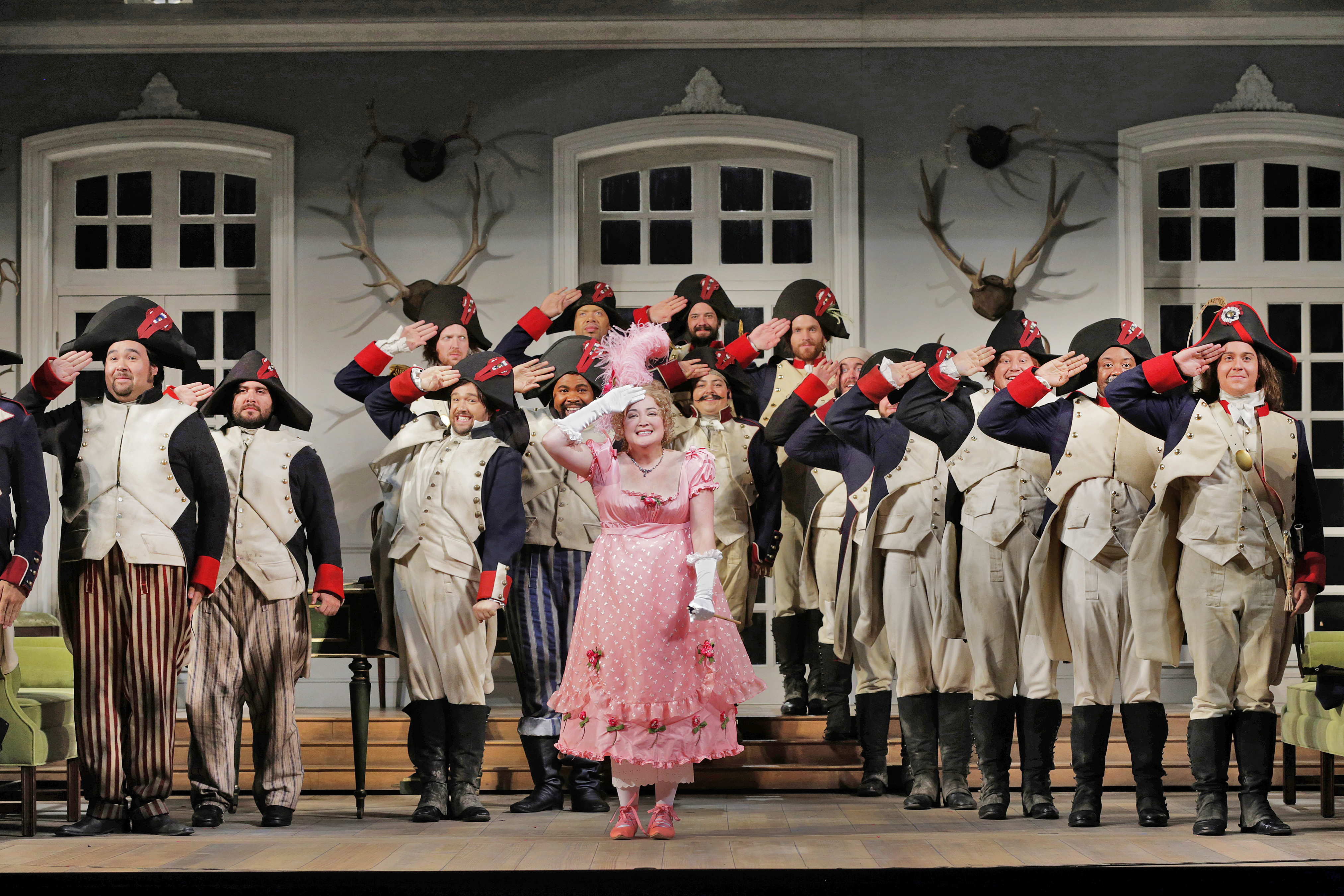 Anna Christy (Marie) and the chorus.