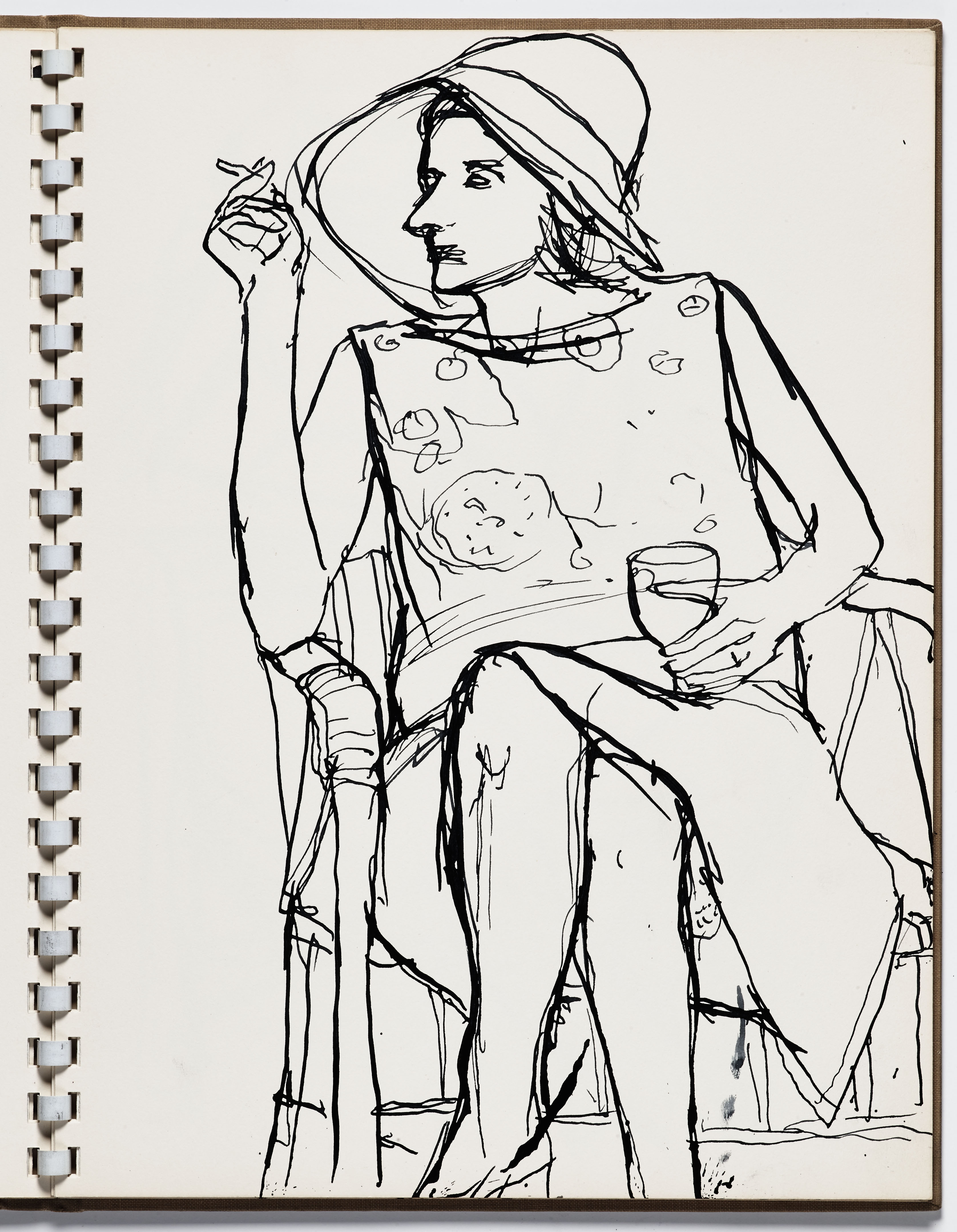 Richard Diebenkorn (U.S.A., 1922–1993), Untitled from Sketchbook #13, page 13, c. 1965–66. Pen and ink on paper.