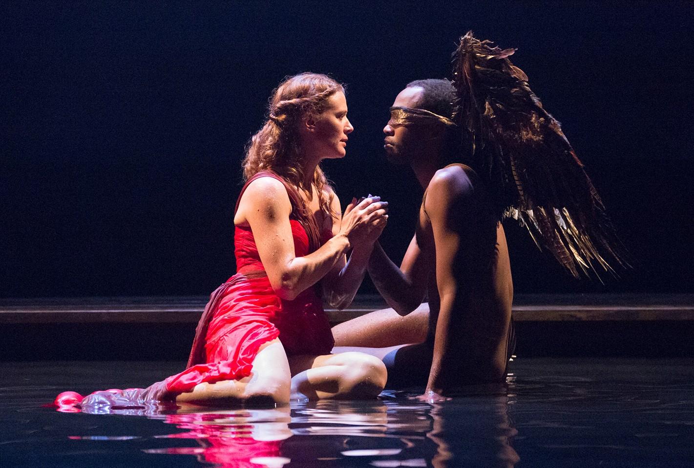 Krista Apple-Hodge as Psyche and Brandon Pierce as Eros.