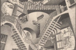 Maurits Cornelis Escher lithographs, illustrations, wood cuts