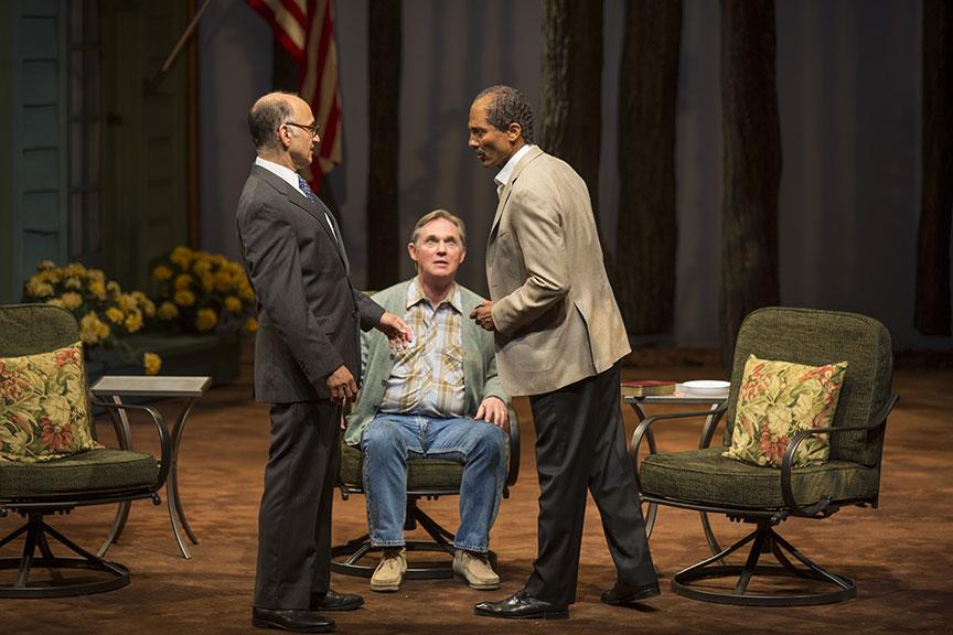 Ned Eisenberg, Richard Thomas, and Shaled Nebawy in