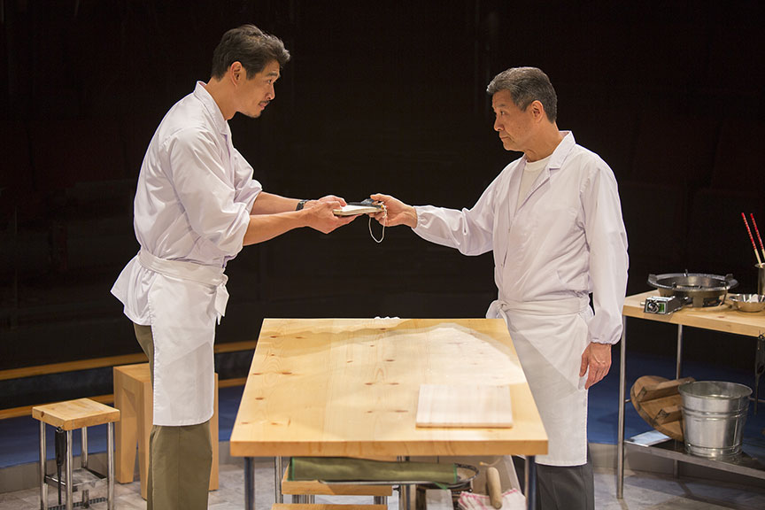(from left) Tim Chiou appears as Takashi and James Saito as Koji. Photo by Jim Cox.