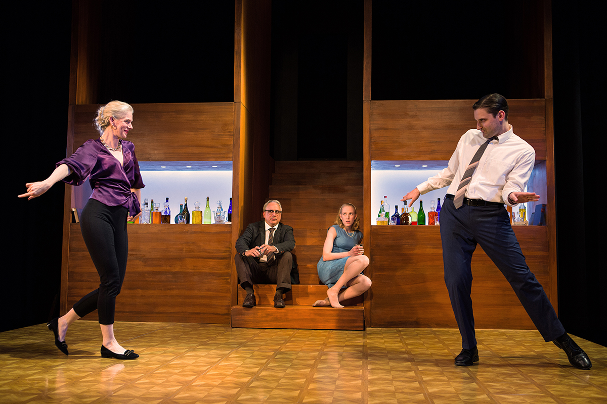 Beth Wilmurt as Martha, David Sinaiko as George. Megan Trout as Honey, Josh Schell as Nick. Photo: Pak Han.