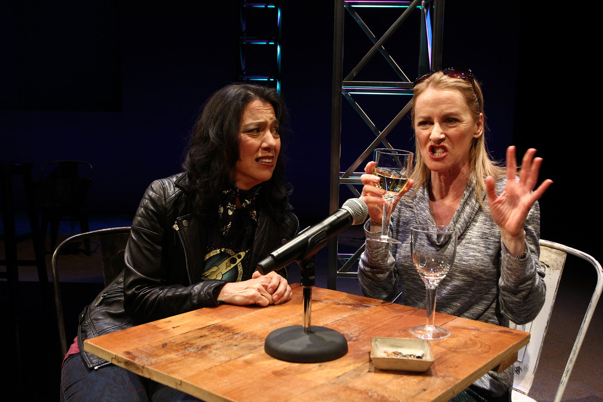 (l to r) Sandra Tsing Loh and Shannon Holt . Photo by Debora Robinson