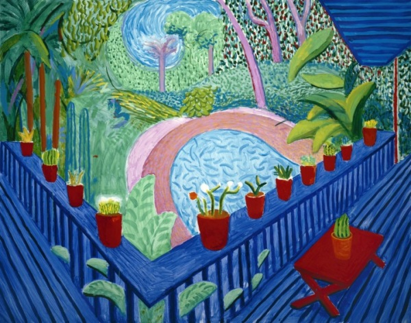 Red Pots in the Garden 2000. Private collection, courtesy Guggenheim Asher Associates