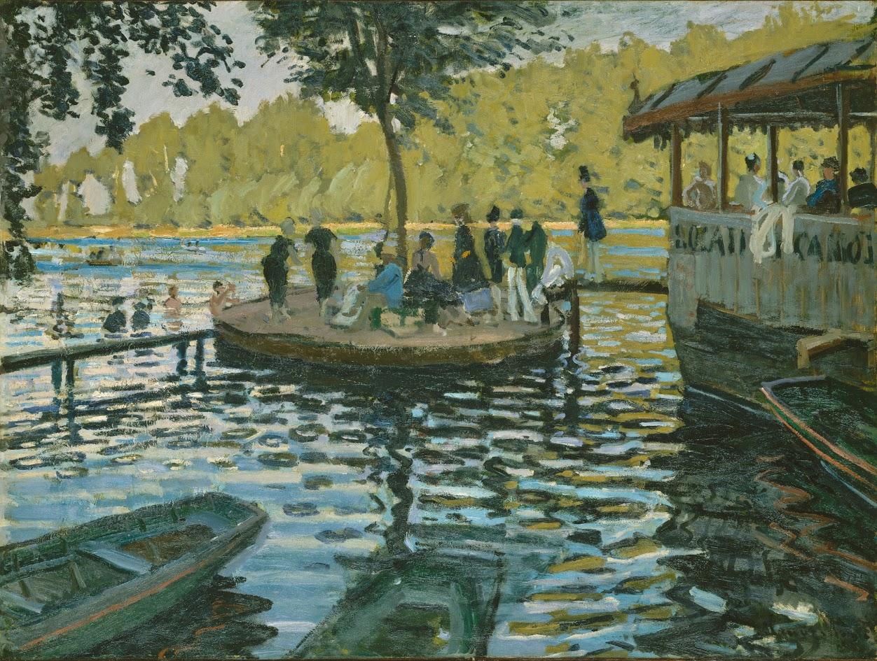 Claude Monet, La Grenouillère, 1869. Oil on canvas,.