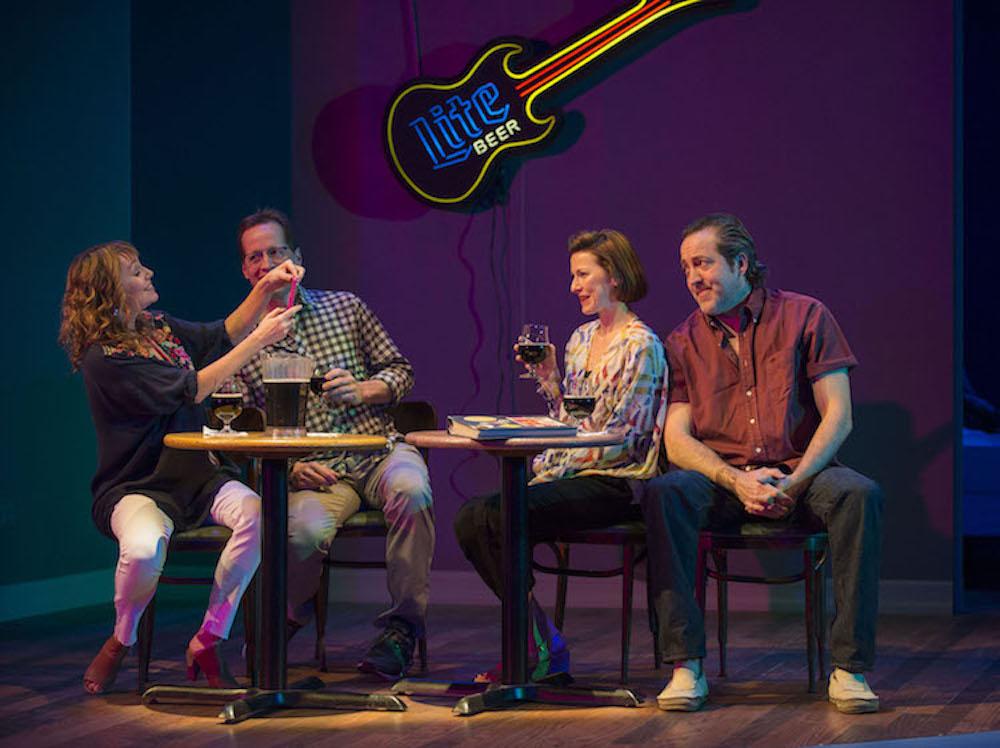 Murphy, Hopper, Vander Broek and Barford at the karaoke bar. Photo by Michael Brosilow.