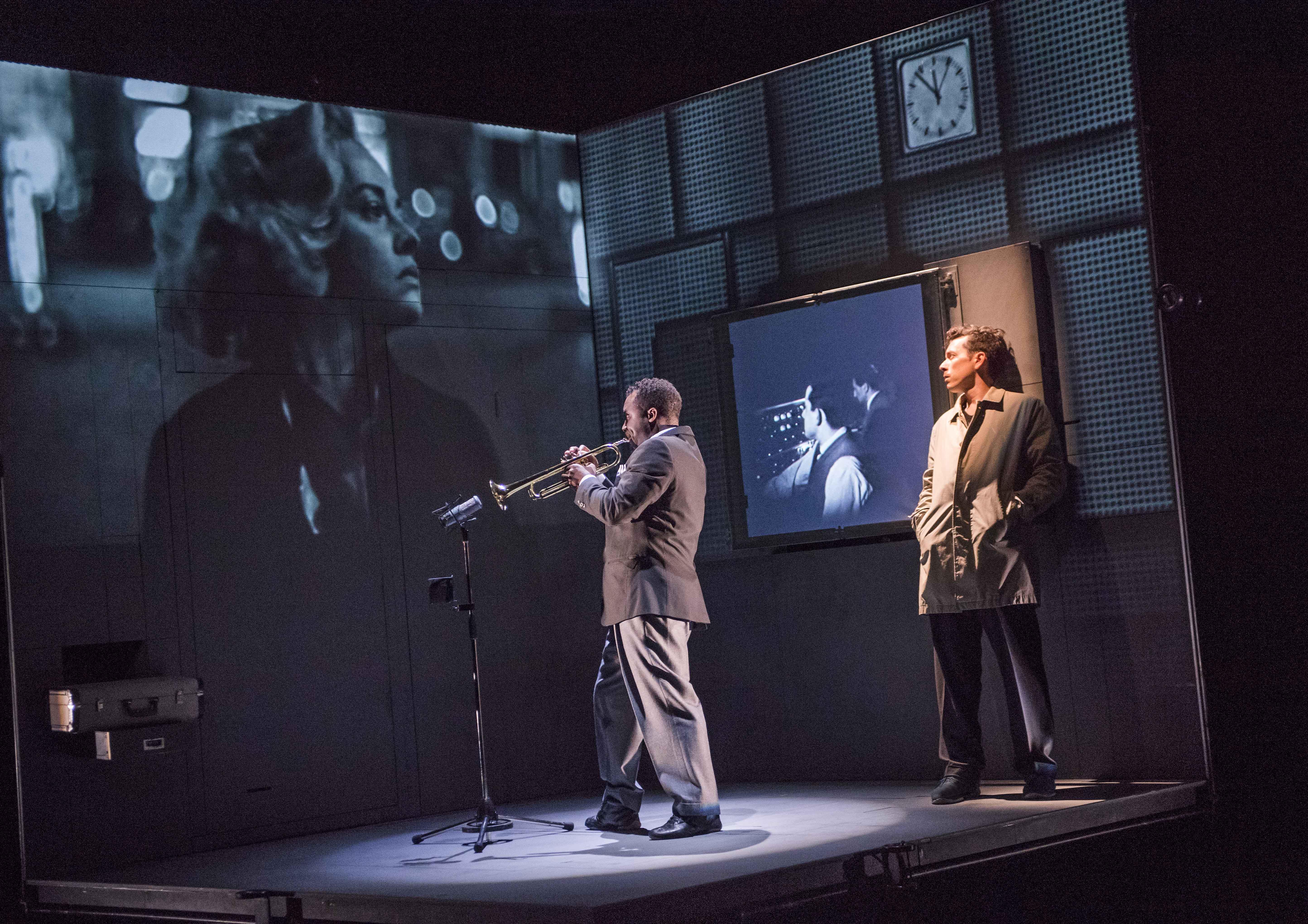 Wellesley Robertson III as Miles Davis and Olivier Normand as Jean Cocteau. Photo: Tristram Kenton