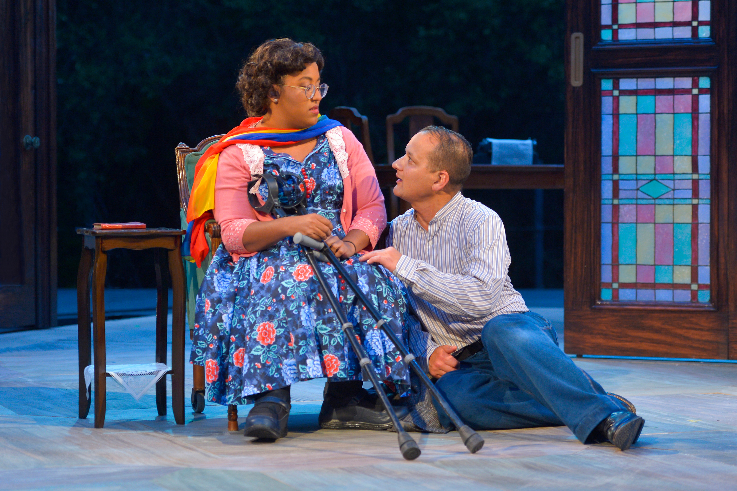 Phoebe Fico as Laura and Sean San José as Tom. Photo: Kevin Berne.