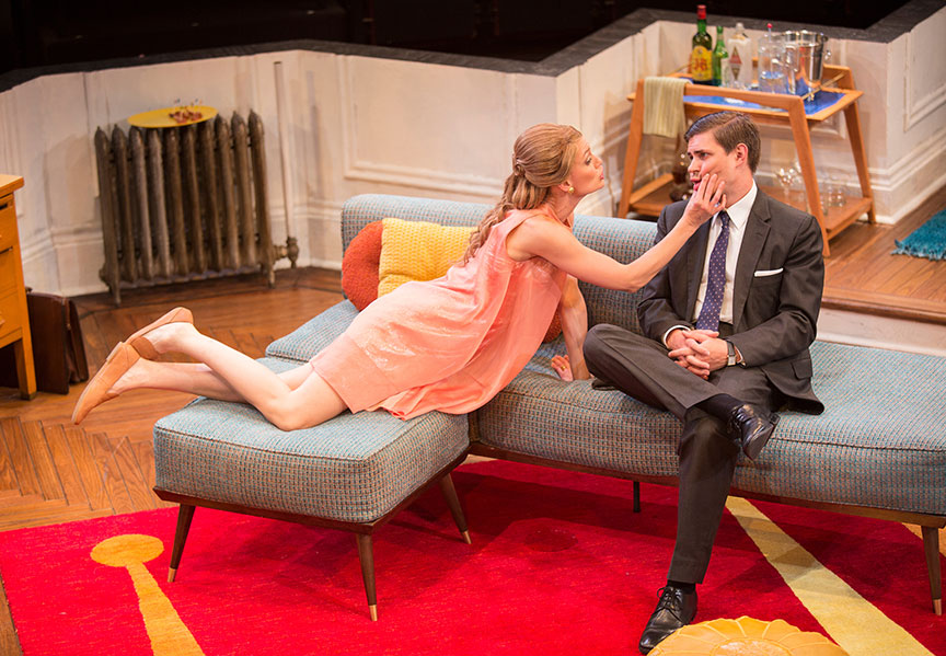 Kerry Bishé as Corie Bratter and Chris Lowell as Paul Bratter  Photo: Jim Cox.