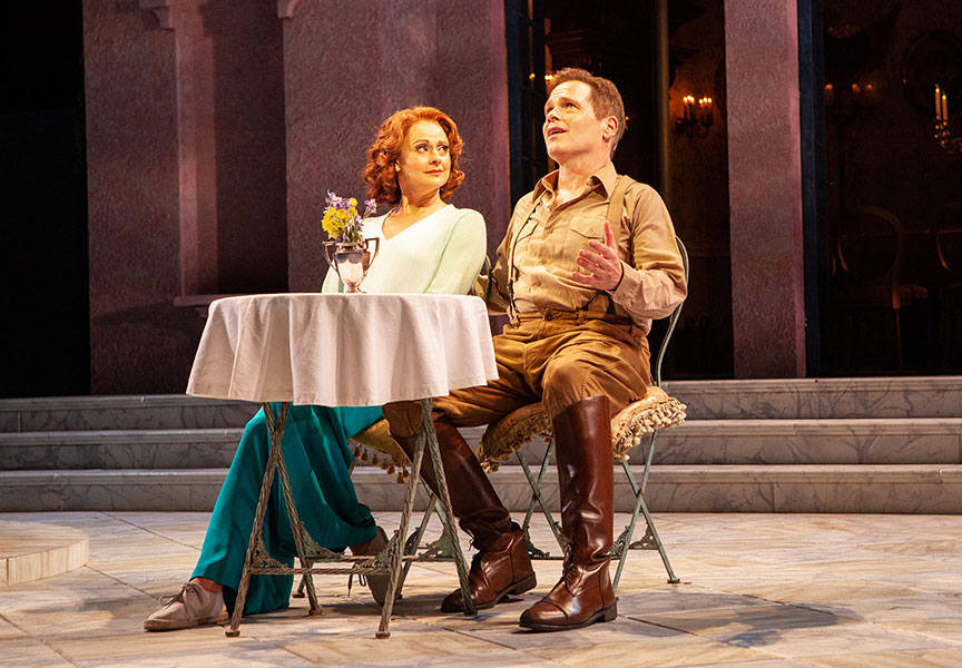 Sara Topham as Beatrice and Michael Hayden as Benedick. Photo: Jim Cox.