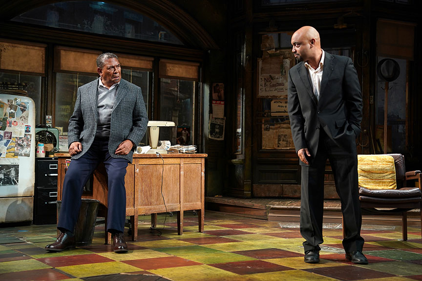 Steven Anthony Jones as Becker and Francois Battiste as Booster. Photo: Joan Marcus.