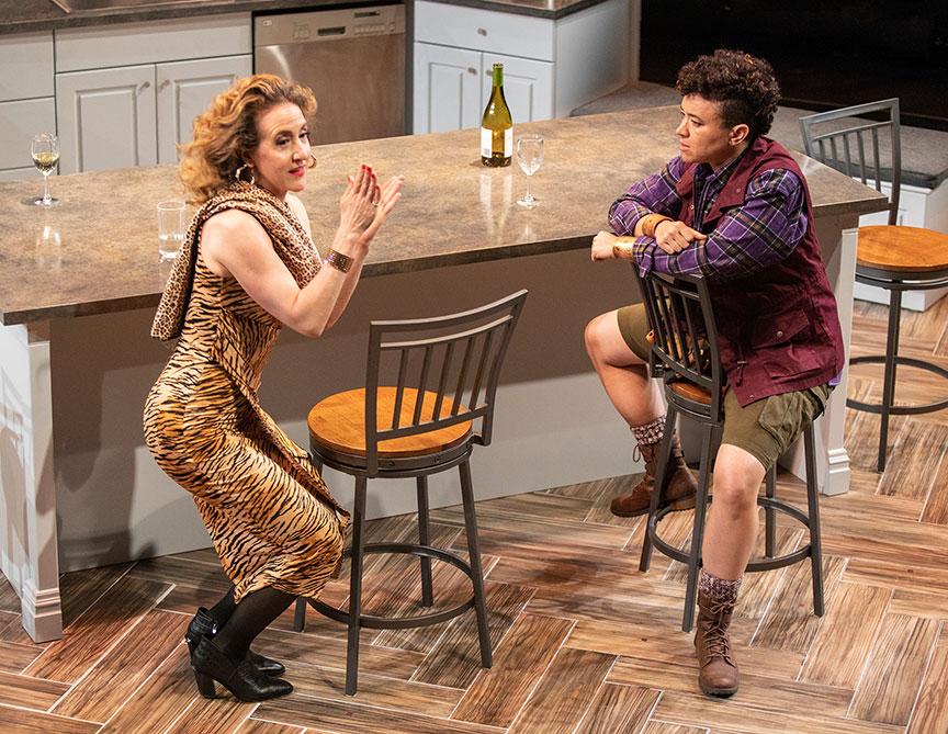 Jenn Harris as Pam Annunziata and Rami Margron as Diane. Photo by Jim Cox.