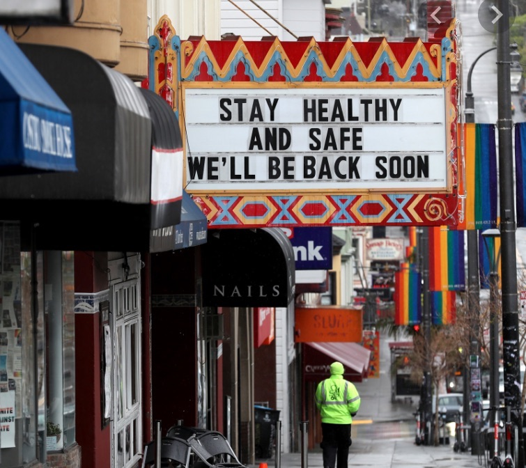 Stay Healthy movie sign sf