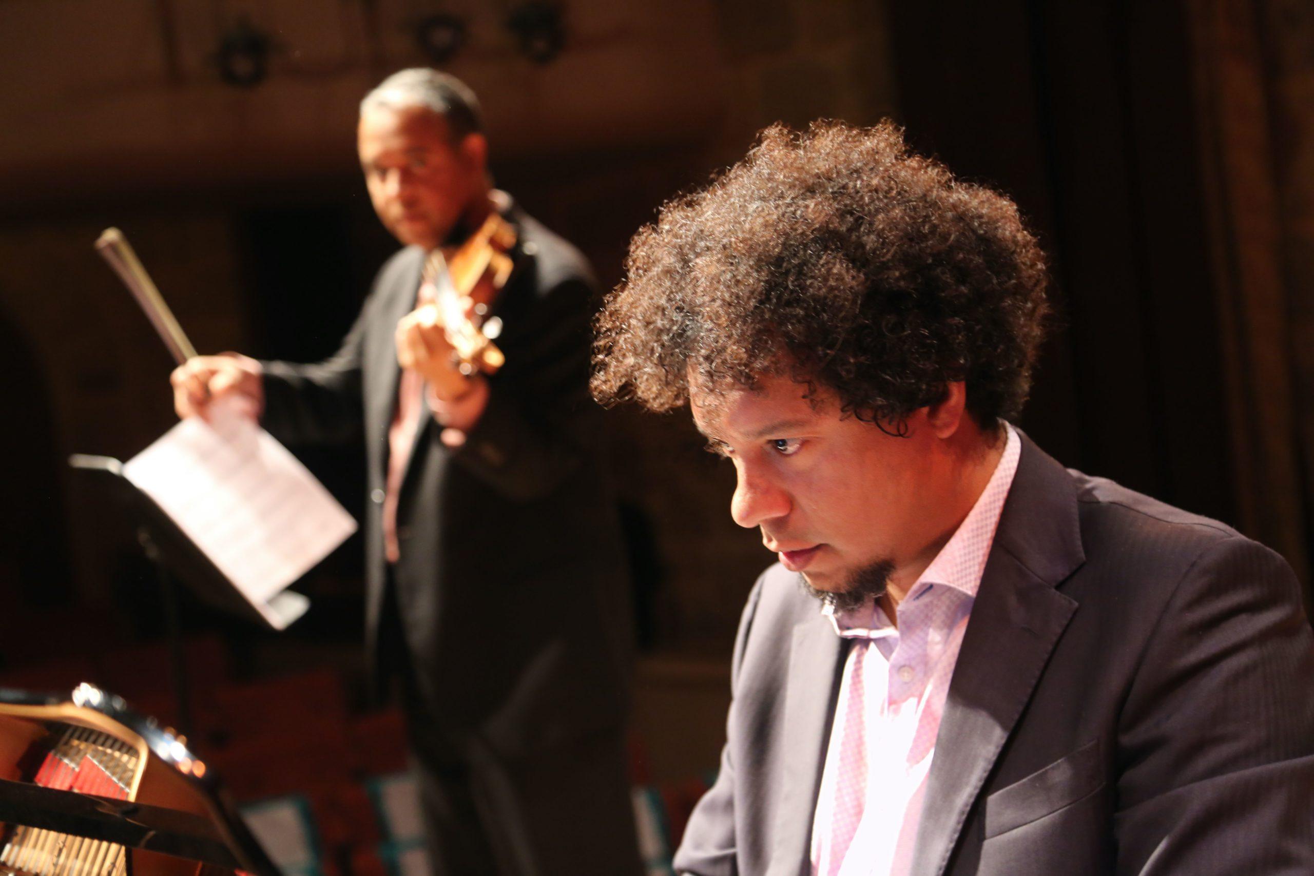 Aldo and Ilmar Gavilan play at Jarvis Hall, Napa