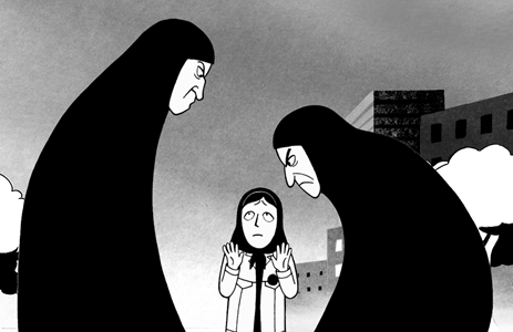 Persepolis movie by Marjane Satrapi, film review by Beverly Berning