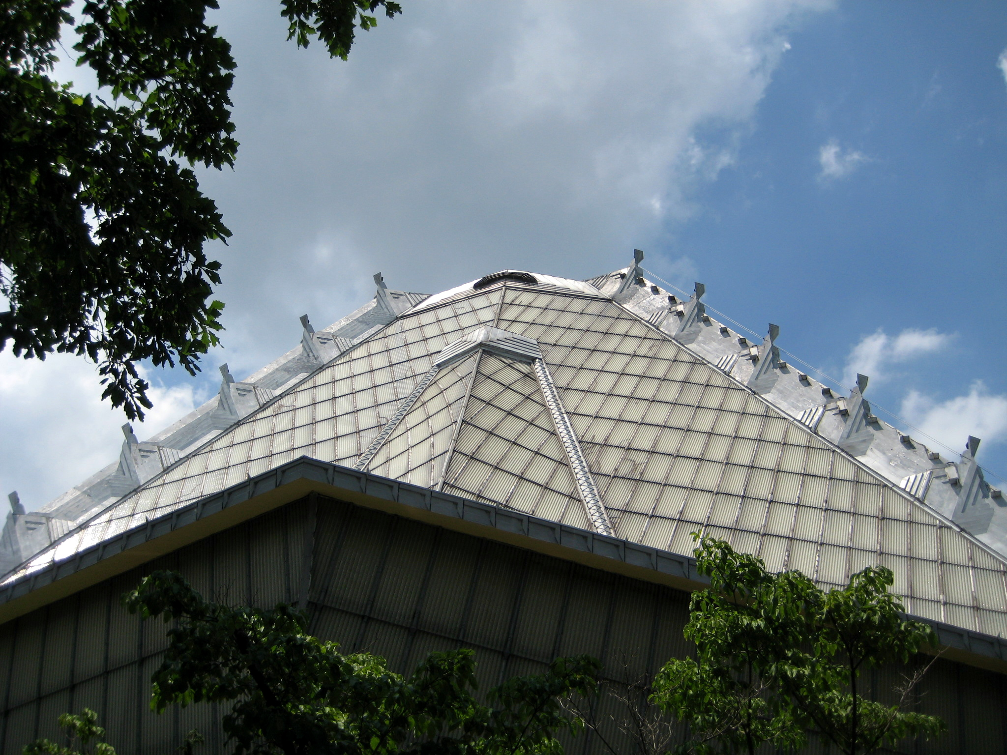 The roof of Beth Sholom Synagogue in Elkins Park, Pa.